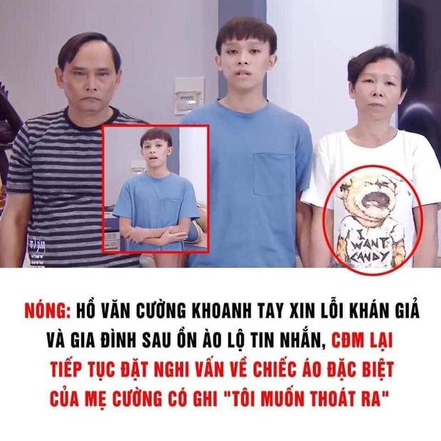 Netizen nghi vấn về chiếc áo đặc biệt của mẹ Hồ Văn Cường trong clip, dòng chữ phải chăng thay cho lời muốn nói?-1
