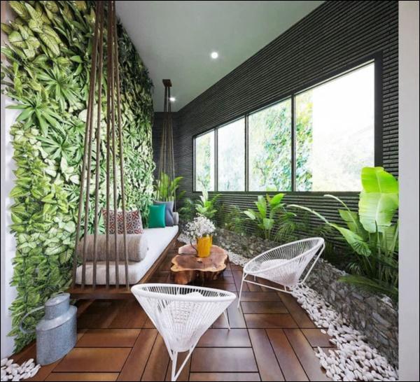 Hồng Đăng tự tay chăm chút cho khu vườn nhỏ trong biệt thự hoàng tráng2 mặt tiền tọa lạc ngay trung tâm Tp.Hà Nội-6