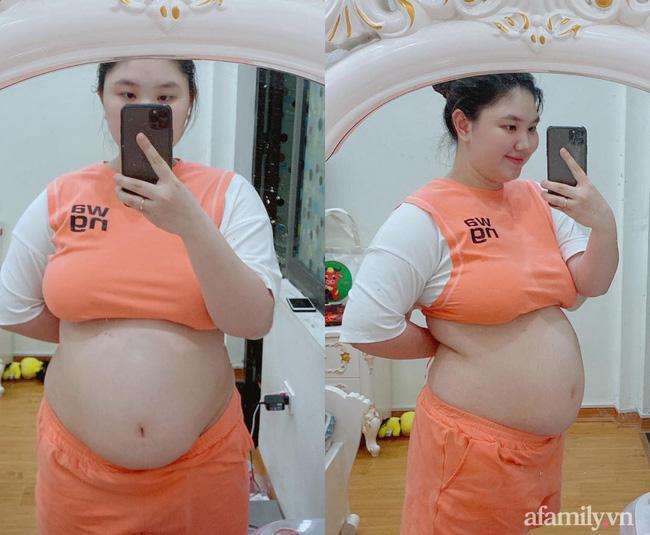 Mẹ Hà Nội đẻ lần đầu xinh đẹp vạn người mê, bầu lần 2 tăng vọt 40kg như bị biến hình khiến chồng đi công tác về không nhận ra vợ-10