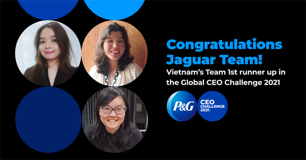3 nữ sinh Việt giành ngôi Á Quân cuộc thi P&G CEO Challenge 2021 toàn cầu-1