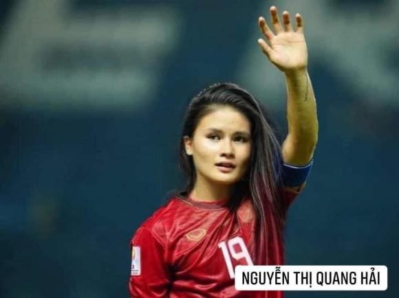 Dân mạng cười xỉu với loạt ảnh các cầu thủ đội tuyển bóng đá Việt Nam được chế ảnh thành con gái-1
