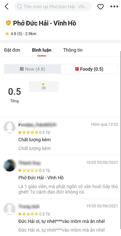 Vạ miệng trên mạng xã hội, quán phở của Nghệ sĩ Đức Hải ở Sài Gòn hứng bão 1 sao, thậm chí một quán trùng tên ở Hà Nội cũng bị vạ lây-2