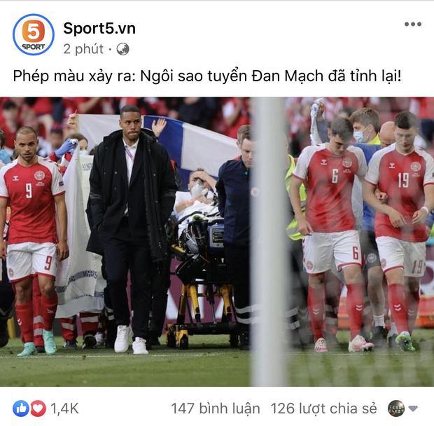 Dân mạng Việt đi từ bàng hoàng đến vỡ oà khi chứng kiến cầu thủ số 1 Đan Mạch đột quỵ ngay trên sân đấu Euro-2