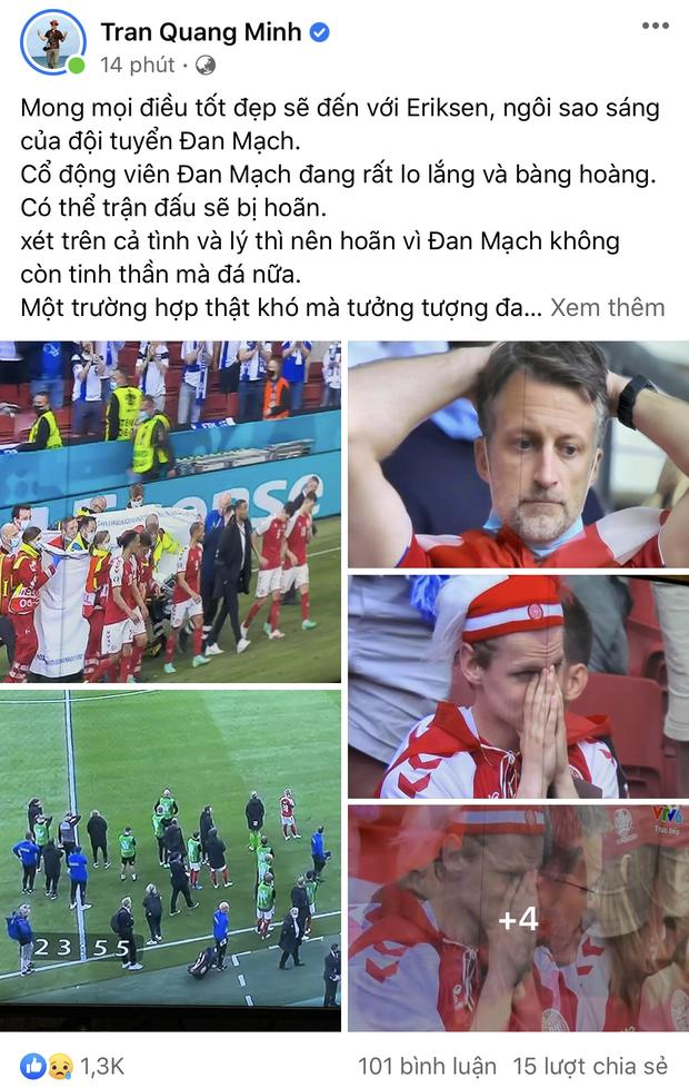 Dân mạng Việt đi từ bàng hoàng đến vỡ oà khi chứng kiến cầu thủ số 1 Đan Mạch đột quỵ ngay trên sân đấu Euro-5