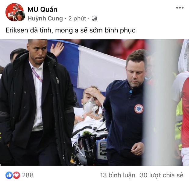 Dân mạng Việt đi từ bàng hoàng đến vỡ oà khi chứng kiến cầu thủ số 1 Đan Mạch đột quỵ ngay trên sân đấu Euro-4
