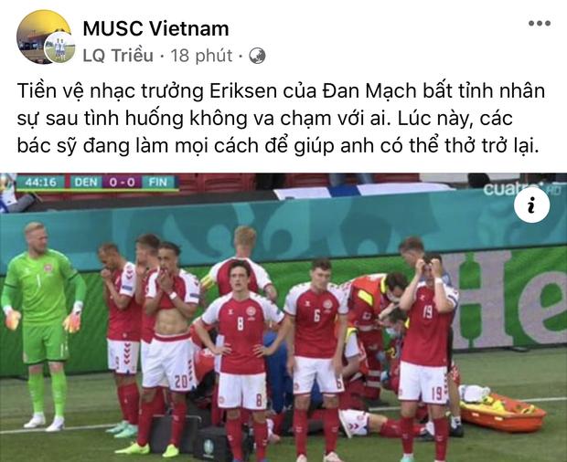 Dân mạng Việt đi từ bàng hoàng đến vỡ oà khi chứng kiến cầu thủ số 1 Đan Mạch đột quỵ ngay trên sân đấu Euro-16