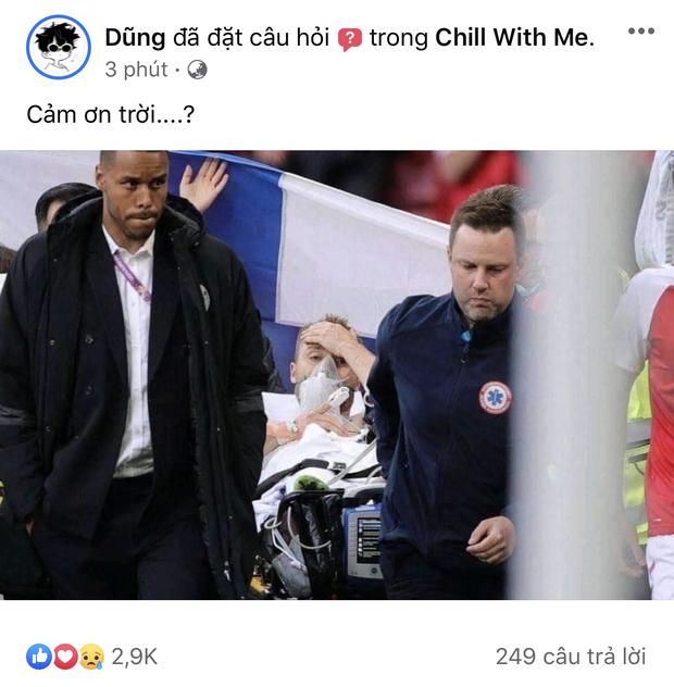 Dân mạng Việt đi từ bàng hoàng đến vỡ oà khi chứng kiến cầu thủ số 1 Đan Mạch đột quỵ ngay trên sân đấu Euro-3