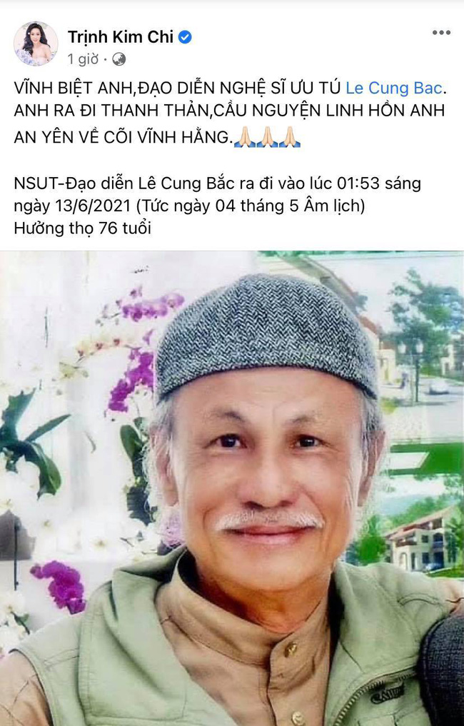 Đạo diễn Lê Cung Bắc của Người đẹp Tây Đô qua đời, Việt Trinh và dàn sao Việt bàng hoàng thương tiếc-4