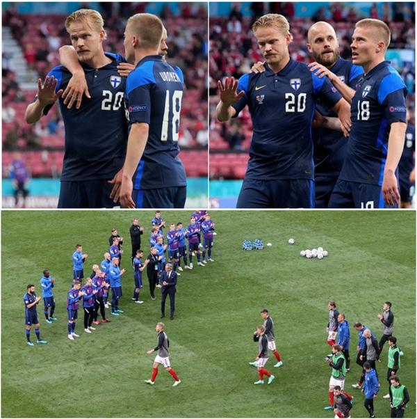 Lá Quốc kỳ Phần Lan che cho Eriksen và những hình ảnh khiến cả thế giới quặn thắt con tim-14