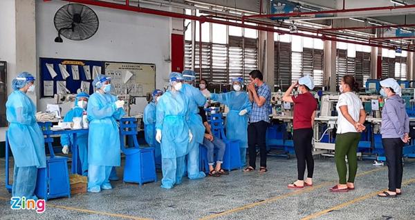 Xét nghiệm tầm soát diện rộng cho công nhân PouYuen-1