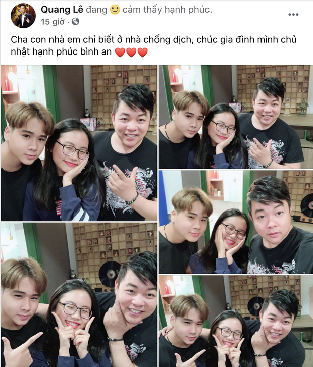 Quang Lê đăng ảnh cực tình cảm với con nuôi Phương Mỹ Chi, netizen spam ngay ảnh Phi Nhung và Hồ Văn Cường nhằm so sánh 1 điều!-1