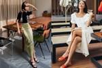 Chân váy có thêm chi tiết này thì nàng 1m55 trông như 1m65, cặp chân được kéo dài tít tắp