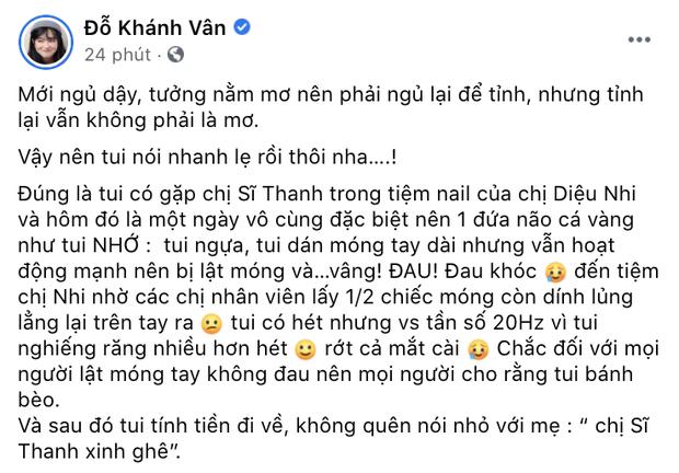 Sĩ Thanh - Khánh Vân đồng loạt lên tiếng về tin đồn choảng nhau ở tiệm nail, nhưng sao ông nói gà bà nói vịt thế này?-3