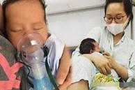 Bé 13 ngày tuổi nhiễm virus RSV, mẹ quặn lòng nhìn con trong tình trạng 'người xanh ngắt, lủng lẳng dây xông cắm vào miệng'