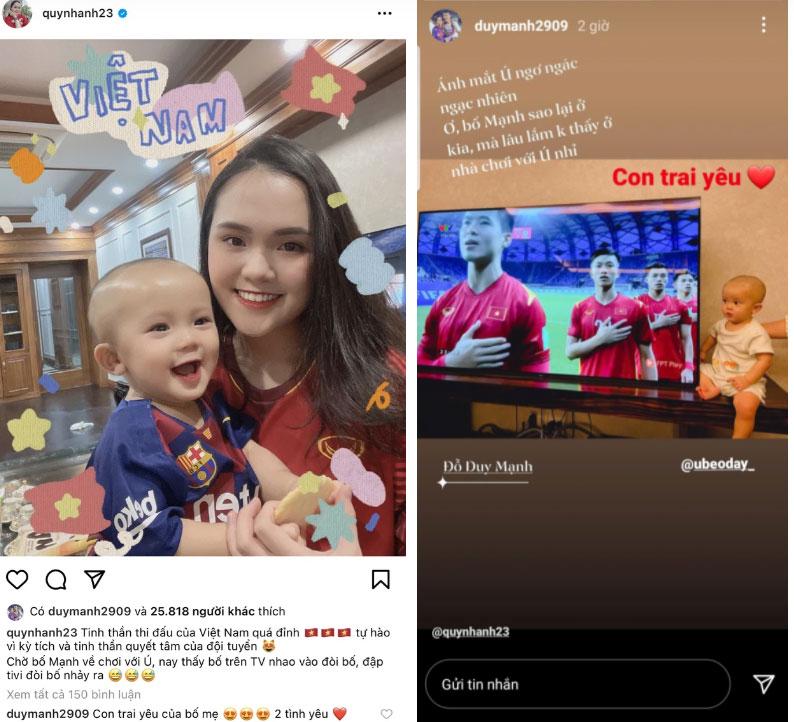 Quá mong ngóng chồng về nước, Quỳnh Anh post tấm hình kèm câu ví von Duy Mạnh với một đối tượng mà khiến dân mạng không nhịn được cười-2