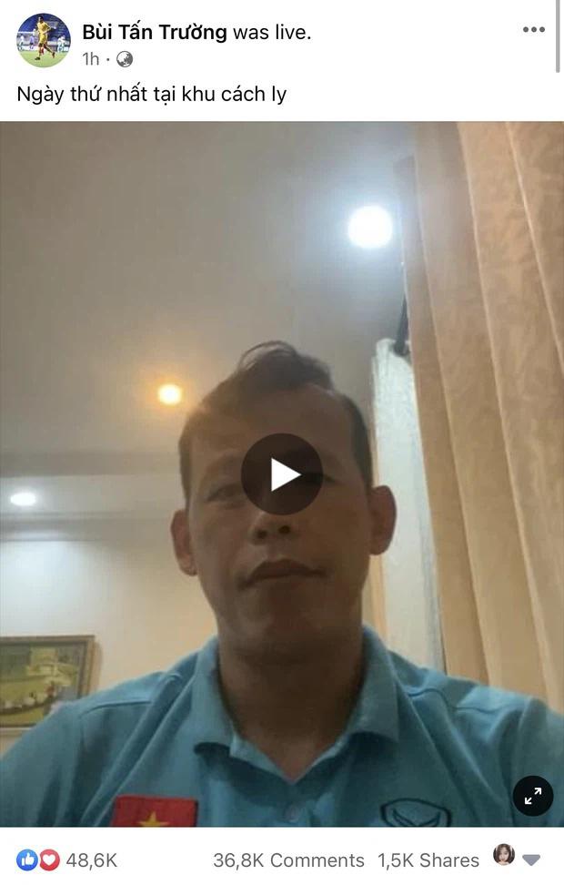 Nhật ký ngày đầu cách ly của ĐT Việt Nam: Ngập đồ ăn vặt, vui vẻ mở livestream kể chuyện đời-1
