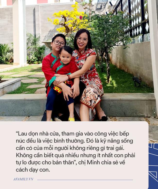 Nữ giám đốc ở Hà Nội nhàn tênh vì tôn chỉ thép trong việc dạy con: Trai hay gái đều phải xuống bếp, bố mẹ đi vắng con biết cách tự no bụng-2
