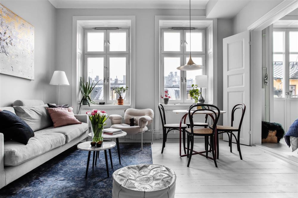 Sau nhiều năm tiết kiệm, cô gái trẻ đã mua được căn hộ 39m² và cải tạo thành không gian đẹp ngọt ngào-3