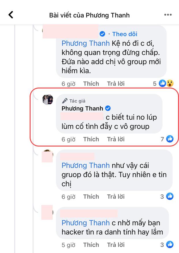 """5 lần 7 lượt phủ nhận cuối cùng Phương Thanh cũng thừa nhận có tồn tại nhóm chat Nghệ sĩ Việt""""?-1"""