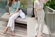 Hè diện quần trắng cho mát nhưng để sành điệu không chê được điểm nào, bạn nên ghim 12 cách mặc của gái Hàn
