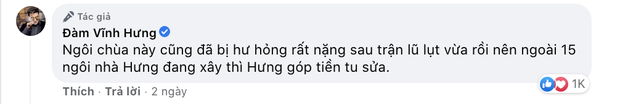 Đàm Vĩnh Hưng chính thức lên tiếng khi bị chỉ trích gay gắt vì dùng tiền cứu trợ miền Trung để đi sửa chùa ở Nghệ An-2