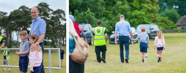 Hoàng tử William xuất hiện rạng rỡ cùng hai con, ngoại hình hiện tại của tiểu hoàng tử và công chúa gây sốt MXH-3
