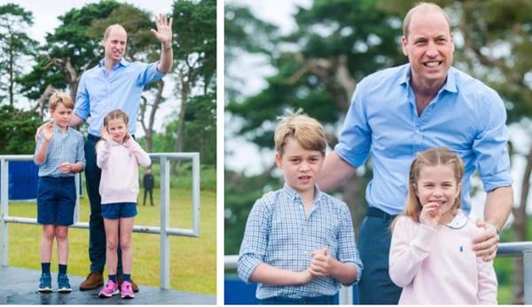 Hoàng tử William xuất hiện rạng rỡ cùng hai con, ngoại hình hiện tại của tiểu hoàng tử và công chúa gây sốt MXH-2