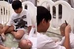 Nhìn cảnh Subeo chơi cùng Lisa và Leon mà 'tan chảy' vì cậu bé quá cưng chiều các em