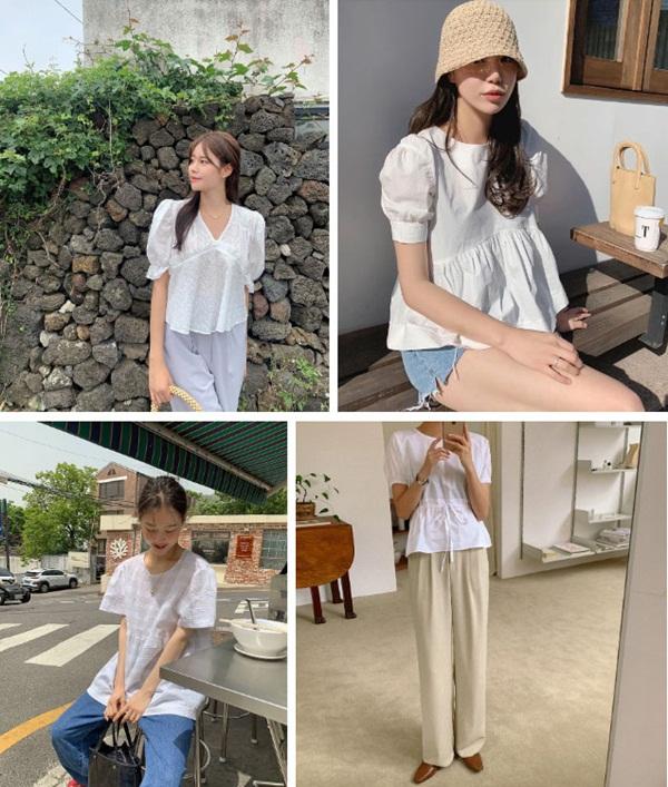 5 kiểu áo blouse trắng phủ sóng hè này: Diện lên auto sang chảnh, lên hình sống ảo đẹp mãn nhãn-3