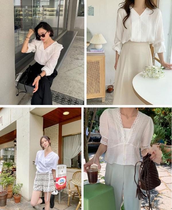5 kiểu áo blouse trắng phủ sóng hè này: Diện lên auto sang chảnh, lên hình sống ảo đẹp mãn nhãn-4