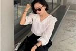 Có 1 kiểu áo blouse ém nhẹm vòng 2 lớn lại hack tuổi trẻ trung, cả loạt sao Hàn đều đang mê mẩn-5
