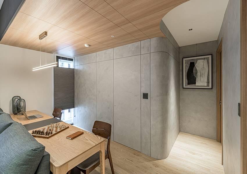 Ngôi nhà với lối thiết kế thông minh, chi tiết gây ấn tượng mạnh là phòng ngủ thiết kế đằng sau tủ quần áo-9