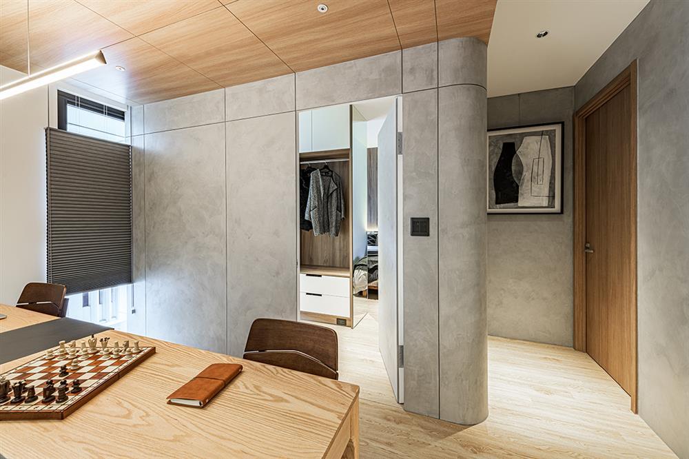 Ngôi nhà với lối thiết kế thông minh, chi tiết gây ấn tượng mạnh là phòng ngủ thiết kế đằng sau tủ quần áo-12