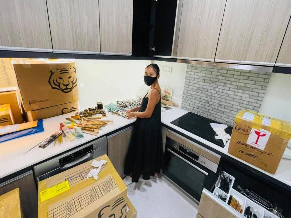 Đoan Trang chuyển gần 200 thùng đồ từ Việt Nam qua nhà mới ở Singapore-4
