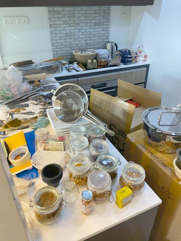 Đoan Trang chuyển gần 200 thùng đồ từ Việt Nam qua nhà mới ở Singapore-13