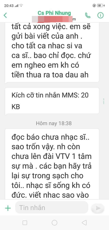 Xuất hiện tin nhắn được cho là của Phi Nhung muốn đòi lại sự trong sạch cho mình-1