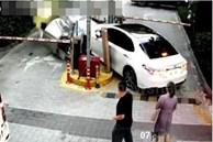 Đạp nhầm chân ga, nữ tài xế tông gục bốt bảo vệ của tòa chung cư