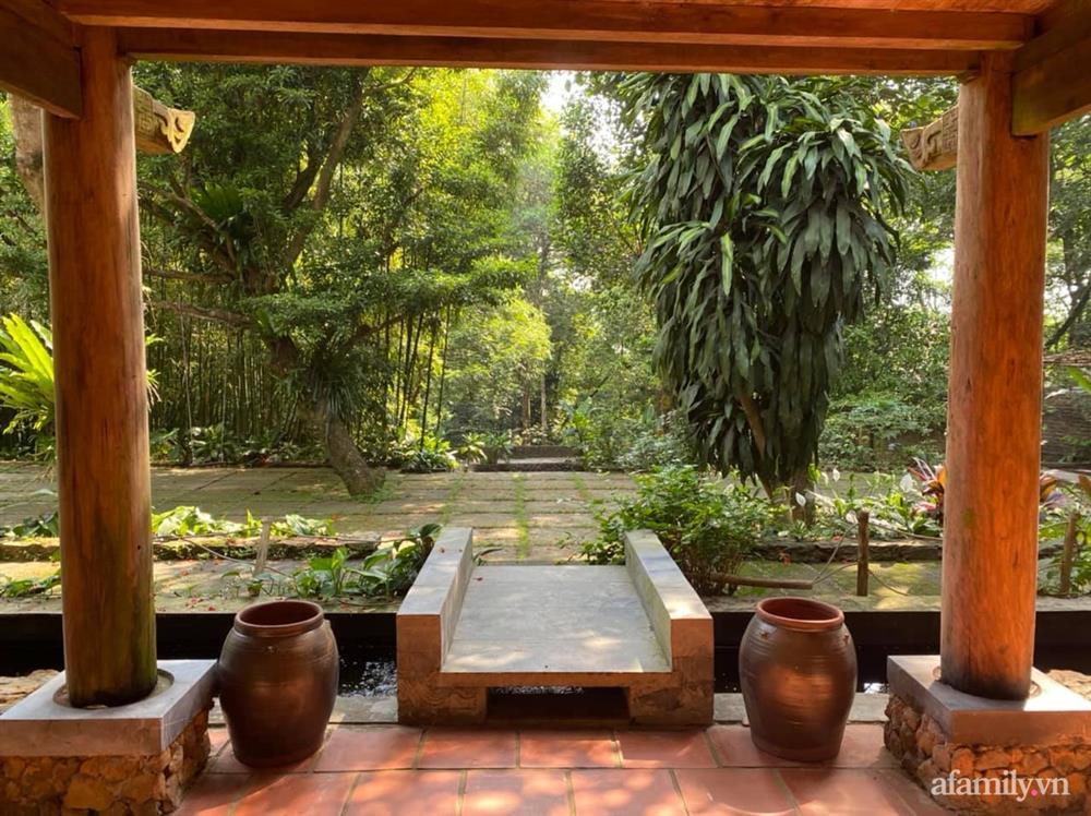 Cuộc sống yên bình trong ngôi nhà nhỏ và khu vườn xanh mát bóng cây ở ngoại thành Hà Nội-40