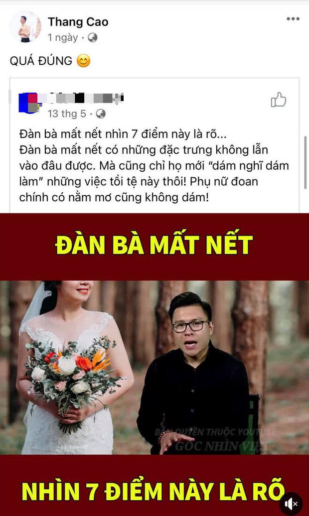 1 ngày trước khi lộ clip đánh vợ, chồng thứ 4 của Cô Xuyến (Về Nhà Đi Con) liên tục đăng đàn mỉa mai đàn bà mất nết?-1