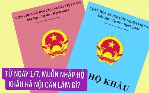 MỚI: Sau ngày 1/7, muốn nhập hộ khẩu Hà Nội chỉ cần các điều kiện này-1