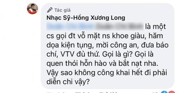 Nhạc sĩ Hồng Xương Long bất ngờ tố Phi Nhung gọi điện khoe tiền, còn mắng hỗn hào-2
