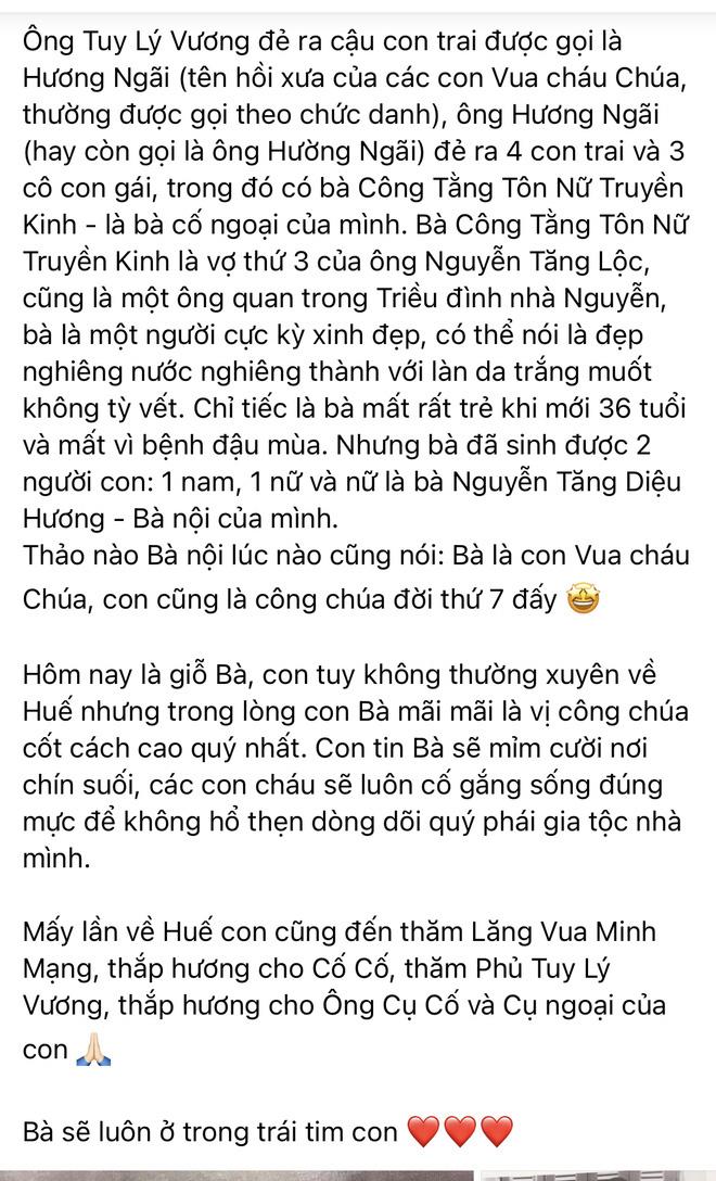 Hoa hậu Hà Kiều Anh đáp trả 1 tràng khi bị netizen thắc mắc về drama tự nhận là công chúa đời thứ 7 triều Nguyễn-6