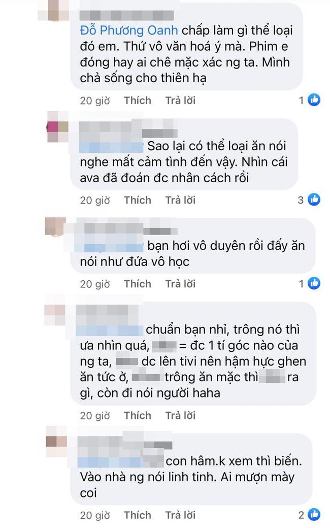 Phương Oanh Hương vị tình thân đáp trả xéo đi, rác rưởi khi bị anti-fan bình luận tục tĩu-4