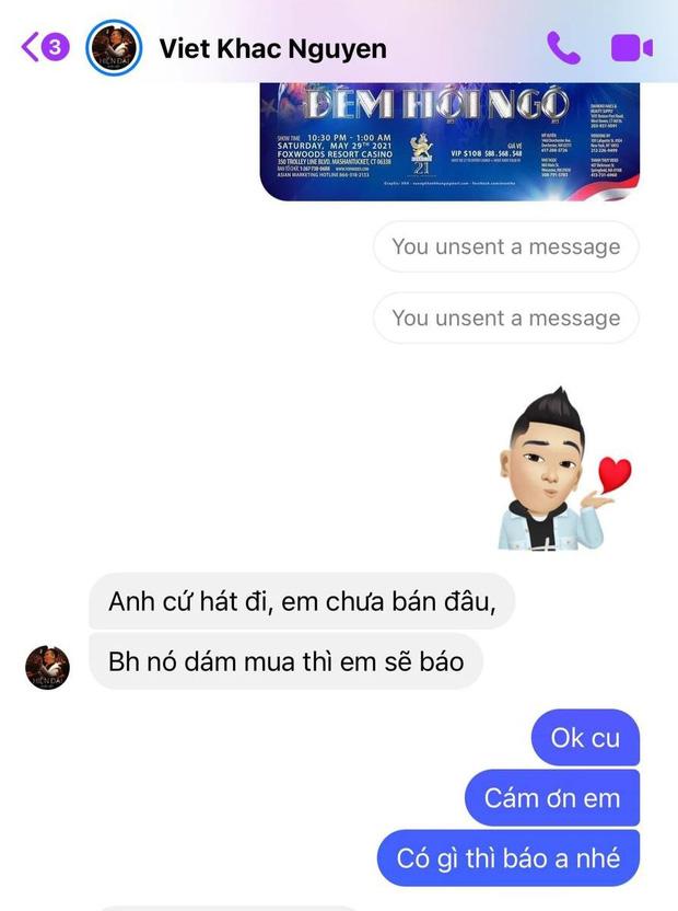 Khắc Việt tố Cao Thái Sơn ép giá mua bài 1 triệu xuống 500k, hát chùa, cắt hình chat đăng FB và chốt bớt giả tạo đi-3