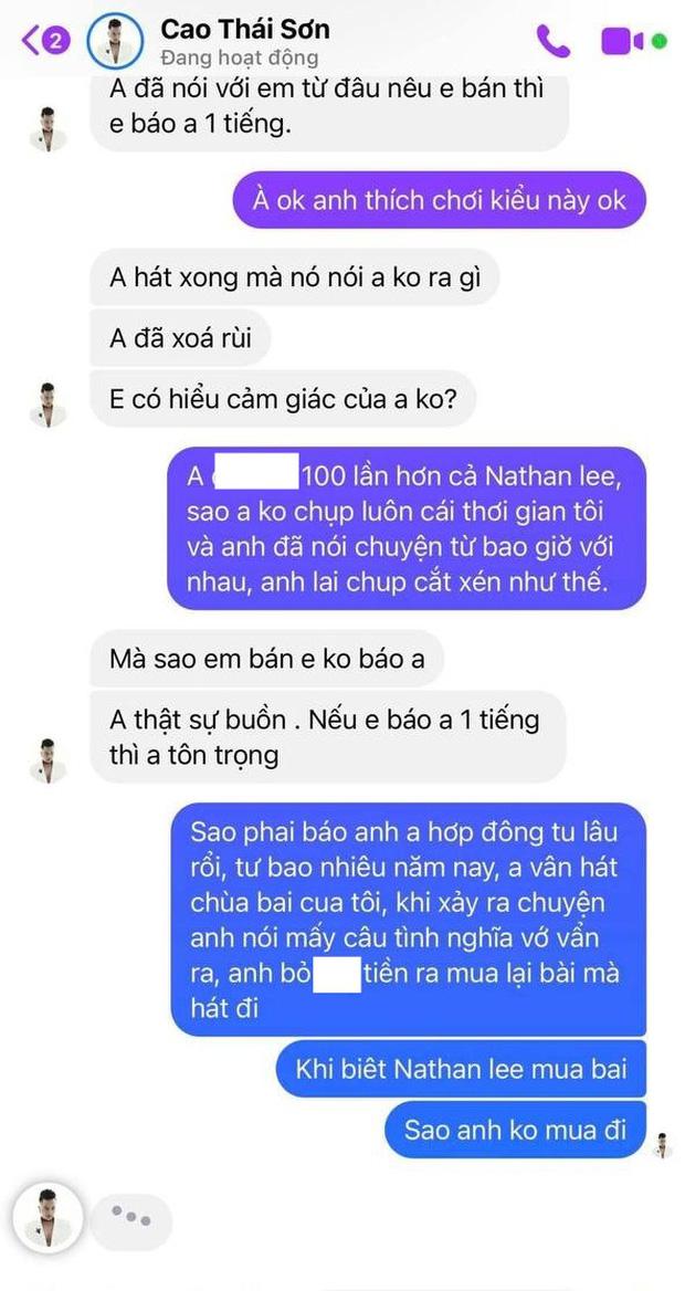 Khắc Việt tố Cao Thái Sơn ép giá mua bài 1 triệu xuống 500k, hát chùa, cắt hình chat đăng FB và chốt bớt giả tạo đi-5