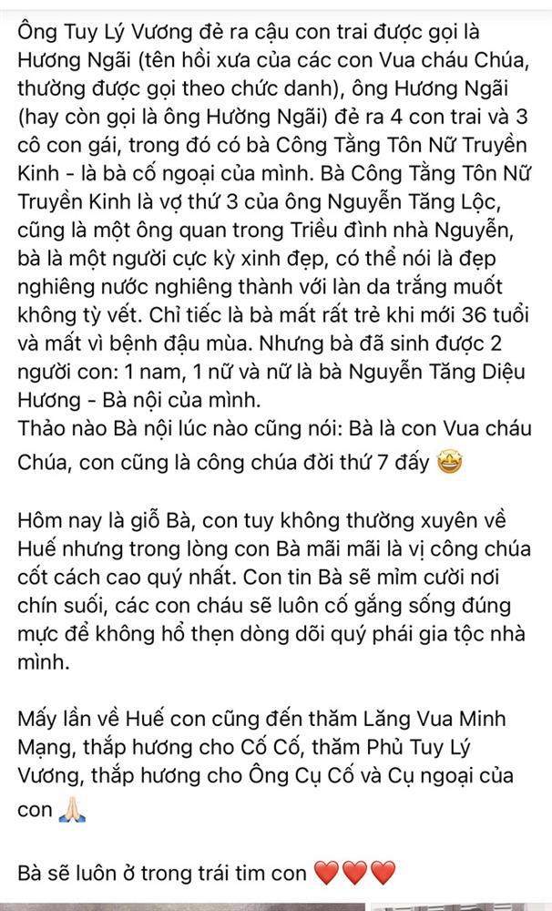 Hà Kiều Anh chính thức lên tiếng và xin lỗi khán giả về ồn ào Công chúa triều Nguyễn-3