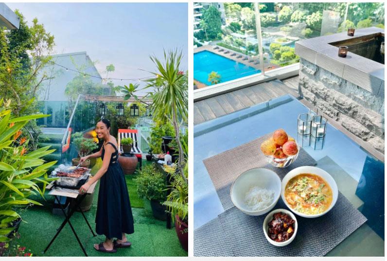 Đoan Trang hội ngộ gia đình Hoàng Oanh, lần đầu hé lộ nhiều ngóc ngách trong căn penthouse xịn xò tại Singapore-5