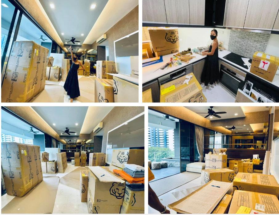 Đoan Trang hội ngộ gia đình Hoàng Oanh, lần đầu hé lộ nhiều ngóc ngách trong căn penthouse xịn xò tại Singapore-7