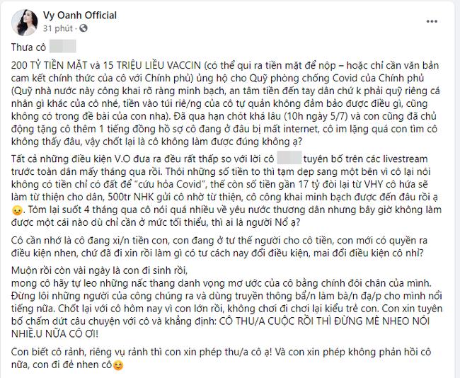 Vy Oanh tuyên bố bất ngờ sau drama 400 tỷ đồng: Cô thua rồi thì đừng mè nheo nói nhiều nữa-1