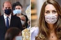 Công nương Kate phải tự cách ly vì tiếp xúc người mắc Covid-19 khiến Hoàng tử William xuất hiện lẻ loi